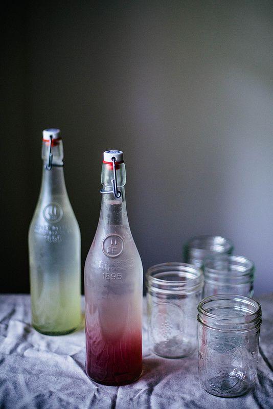 Lavender and cucumber sodas