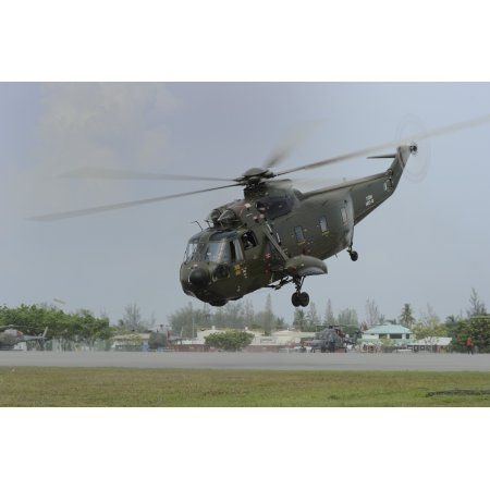 A Sikorsky S-61A4 helicopter of the Royal Malaysian Air Force Canvas Art - Remo GuidiStocktrek Images (35 x 23)
