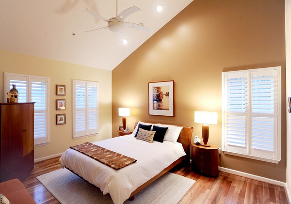 Cathedral ceilings in a perry hall condo home garden for How to paint a cathedral ceiling room