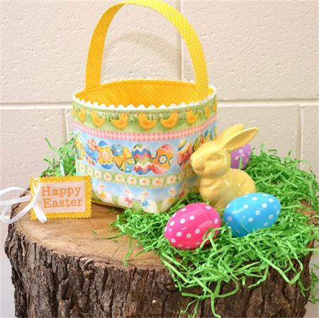 12 best easter images on pinterest bunny bags easter eggs and rabbits easter basket reversible fabric basket bunnies and eggs negle Images