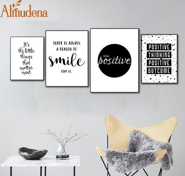 Motivational Quotes Canvas Posters Home Living Room Wall Art Decorative Painting