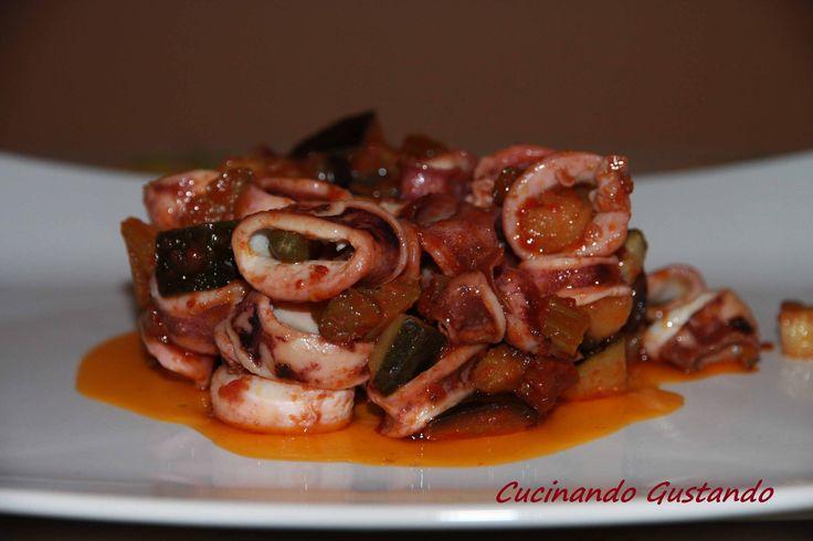 Caponata di calamari