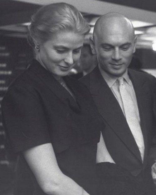 Ingrid Bergman with Yul Brynner.