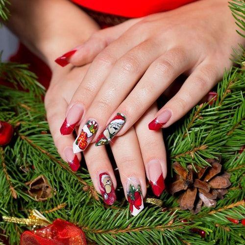 Per nailart di Natale, meglio semplici decorazioni o una ricostruzione in gel? Qualche consiglio. #unghie