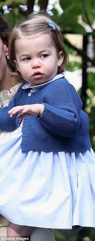 Princess Charlotte strikes a serious expression on the royal tour of Canada
