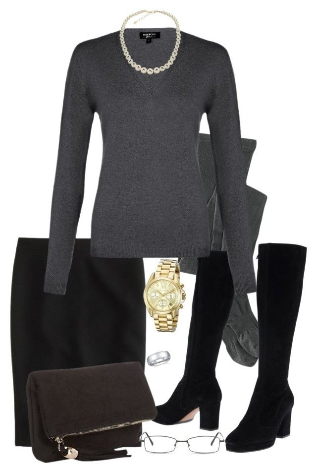 Monday ii by jensmith1228 on Polyvore featuring polyvore, fashion, style, Harrods, J.Crew, Title Nine, L'Autre Chose, Deux Lux, Michael Kors, Accessorize, GlassesUSA and clothing