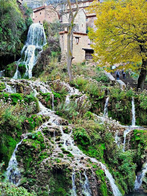Waterfall In Orbaneja Del Castillo, Burgos, Spain