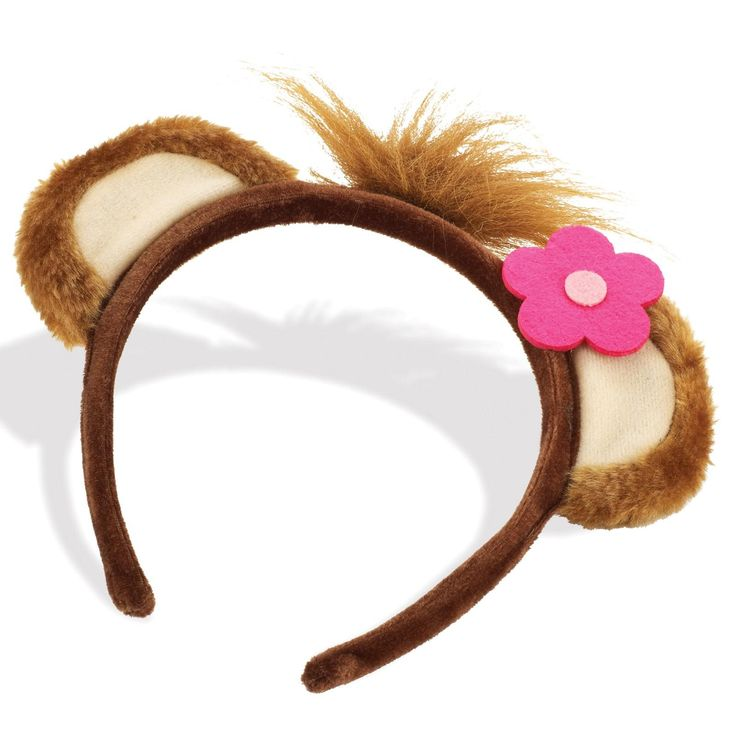 Girl Monkey Ears Headband | BirthdayExpress.com