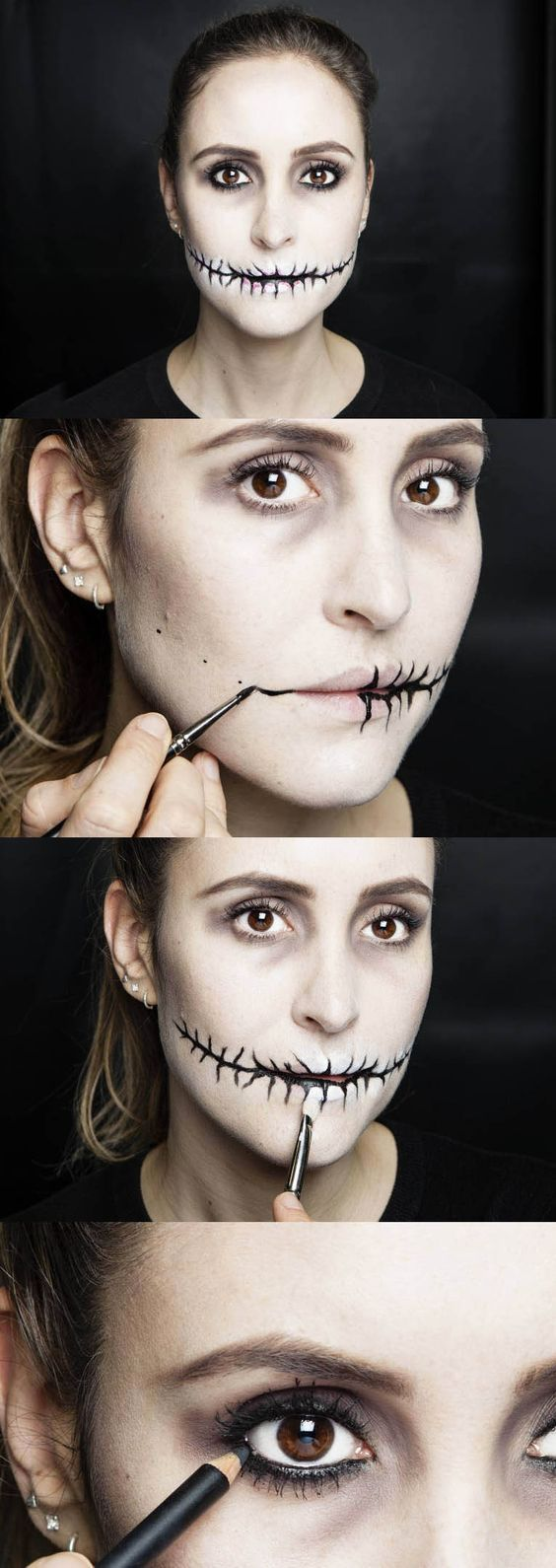 "When you think of Halloween makeup looks, what comes to mind is probably a complicated tutorial, something that takes hours, requires lots of expensive costume makeup, and should basically come with a ""makeup experts only"" warning. Because of beauty bloggers, vloggers, and Instagram gurus, we're used to seeing intricate Halloween makeup that we could never possibly copy on our own."