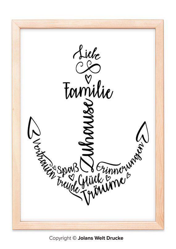 Kunstdrucke mit Liebe für jedes Dich, für jedes deine Familie und zum Verschenken. Ein Bi…