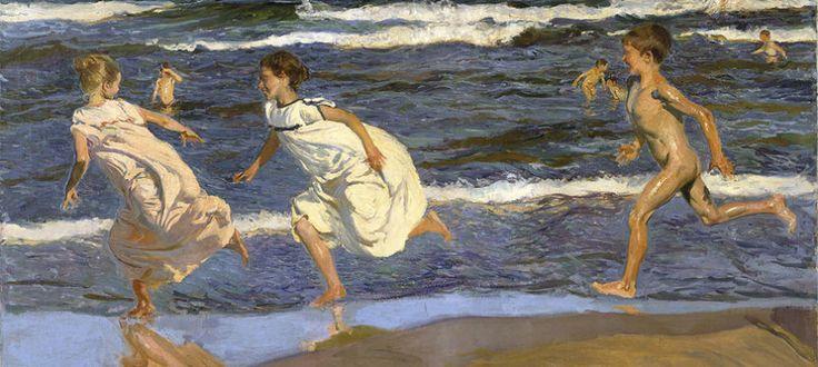 Foto: 'Corriendo por la playa', obra de Joaquín Sorolla, hecha en 1908.