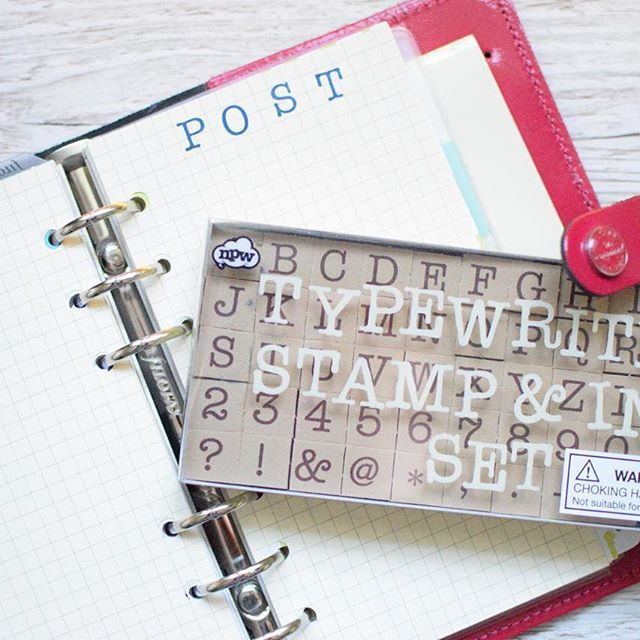 Amazing stamps from Fred Aldous | Alphabet Stamps | Filofax set ups