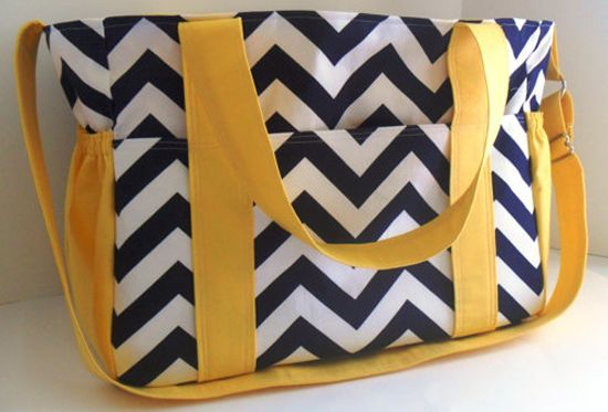 Etsy find of the day – extra large chevron nappy bag