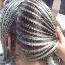 Resultado de imagen para rayos plateados para el cabello color negro