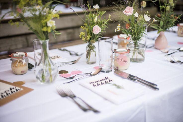 wedding table I DIY I natürliche Hochzeitsdeko