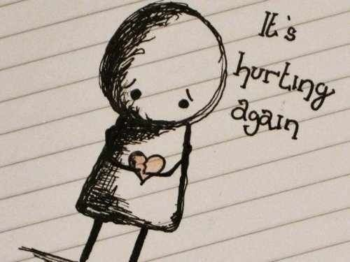 its hurting again....