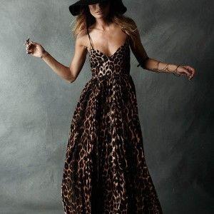 One teaspoon leopard maxi dress