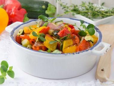 Gegartes+Ofengemüse+aus+der+Heißluftfritteuse