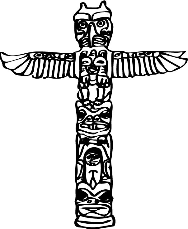 indian totem pole coloring pages | totem pole printable - Google Search | Totem pole pictures ...