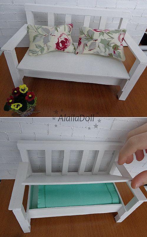 Miniature bench AlailaDoll | par AlailaDoll
