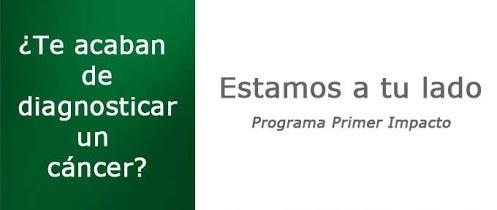 """""""Primer Impacto"""" es nuestro programa para atender de forma inmediata e integral las necesidades del paciente y sus familiares en el momento inicial del diagnóstico. Este año hemos crecido un 189% en personas atendidas en el momento inicial, respecto al 2011 y estamos presentes en 47 hospitales de toda España."""