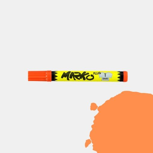 Tekstiltusj permanent 5mm oransje