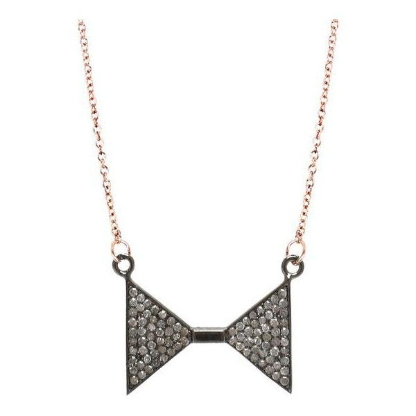 ADORNIA Rose Gold and Champagne Diamond Madison Ave Necklace (2.995 DKK) ❤ liked on Polyvore featuring jewelry, necklaces, pink, pink gold jewelry, 14k necklace, pink diamond necklace, pink jewelry and rose gold jewelry
