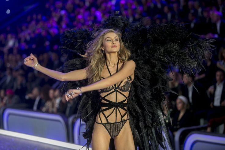 Gigi Hadid walking the Victoria's Secret Fashion Show   @nickibryson