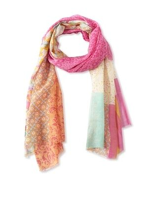 64% OFF Saachi Women's Multi-Print Scarf, Pink, One Size