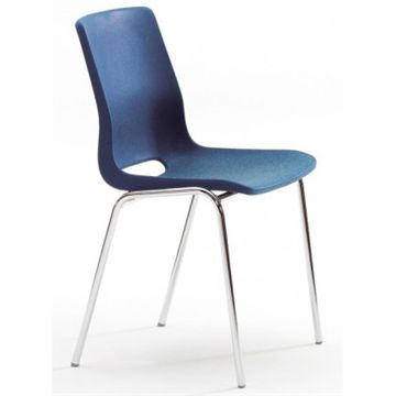Ana-stol u/polster krom stel, mørk blå 395