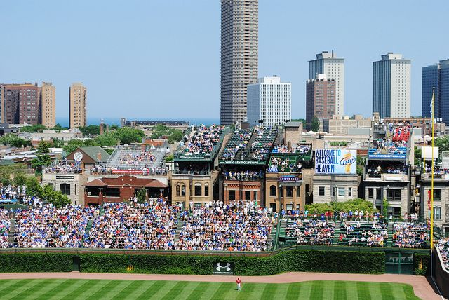 Wrigley rooftops surrounding Wrigley Field in Chicago