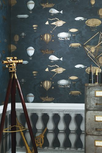 Fabulous new product from the new Fornasetti II Collection from Cole & Sons, distributed exclusively by Kravet/Lee Jofa