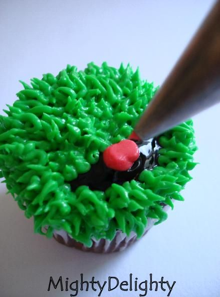 Mighty Delighty: How to Make Miniature Oscar the Grouch Cupcakes