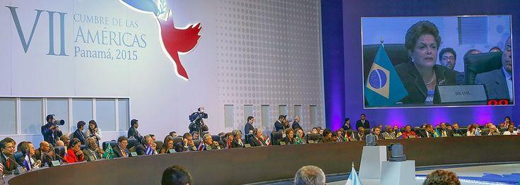 : Cidade do Panamá - Panamá, 11/04/2015. Presidenta Dilma Rousseff durante I Sessão Plenária da VII Cúpula das Américas. Foto: Roberto Stuckert Filho/PR