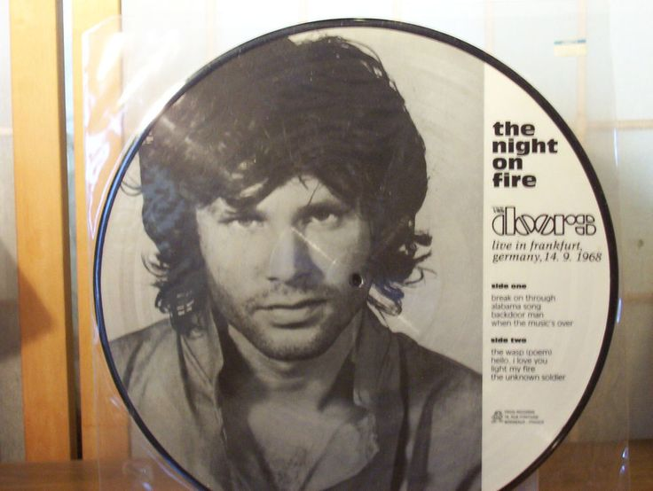 THE DOORS (JIM MORRISON) PICTURE DISC LP  THE NIGHT ON FIRE  w  sc 1 st  Pinterest & 27 best The Doors Picture Discs (Beautiful!) images on Pinterest ...
