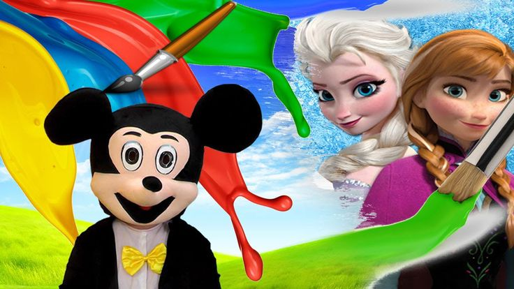 Mickey Mouse Draws Disney Frozen Anna and Elsa Princess Mickey Kids TV