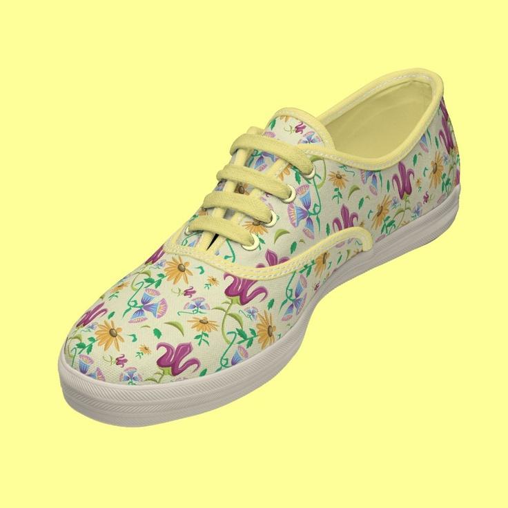 Walking in Wildflowers Keds Tennis Shoes