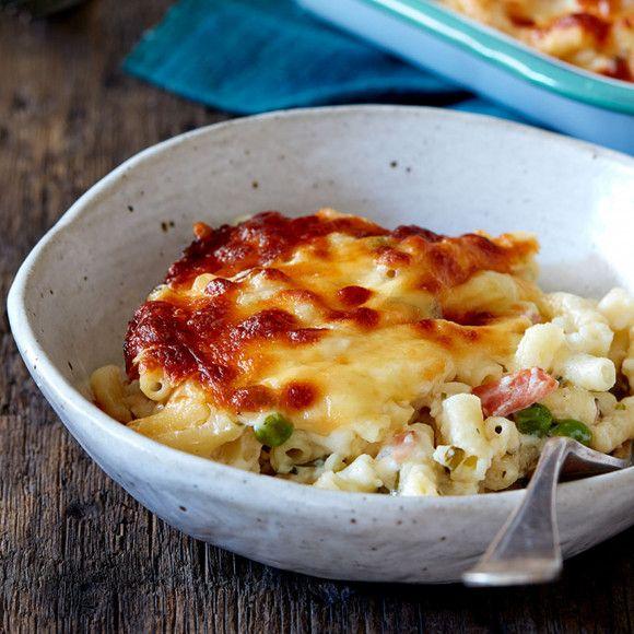 Herb Bacon And Pea Macaroni Cheese Bake Recipe