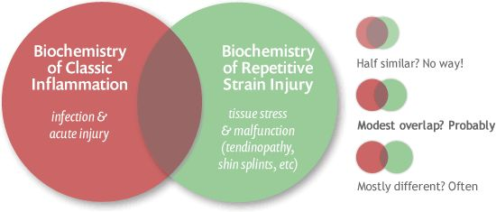 the truth about repetitive stress injury - this page may save my life! stop popping ibuprofen and acetaminophen like candy! no wonder it never really works, even at prescription strength! it actually retards the natural healing process!