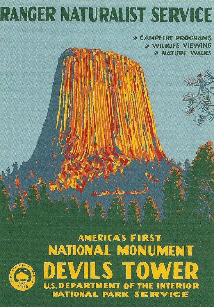 Devils Tower National Park Post Card Post Cards