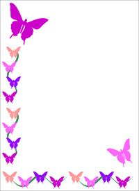 butterfly note paper