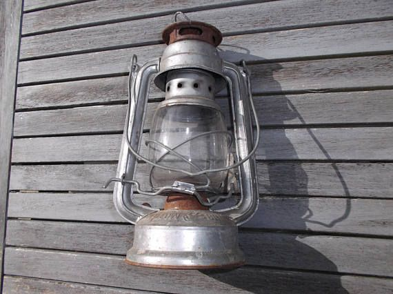 lamp storm shabby chic  Lantern Swallow Brand  old oil