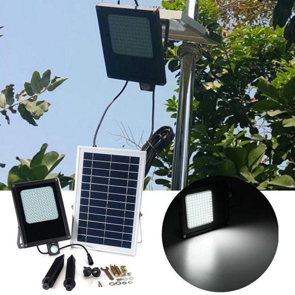 Solar Powered 120 Led Pir Motion Light Sensor Flood Light Waterproof Outdoor Garden Security L Solar Led Lights Outdoor Solar Security Light Solar Led Lights