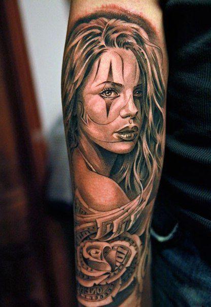 tattoo chicano girl - Hľadať Googlom