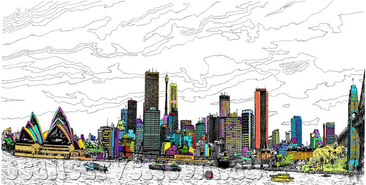 Sydney skyline print