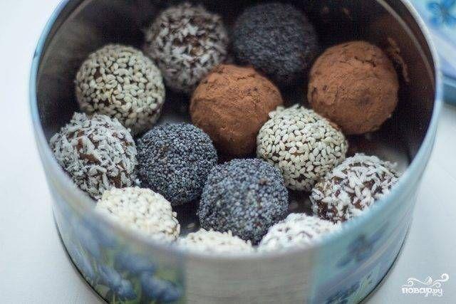 Веганские конфеты из сухофруктов