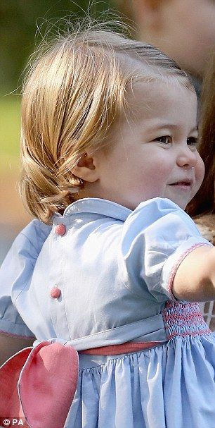 Prince Charlotte has inherited her great grandmother's smile...