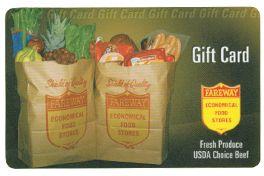 Yo quisiero un Fareway Gift Card. El costo es viento a novecientos dolares.