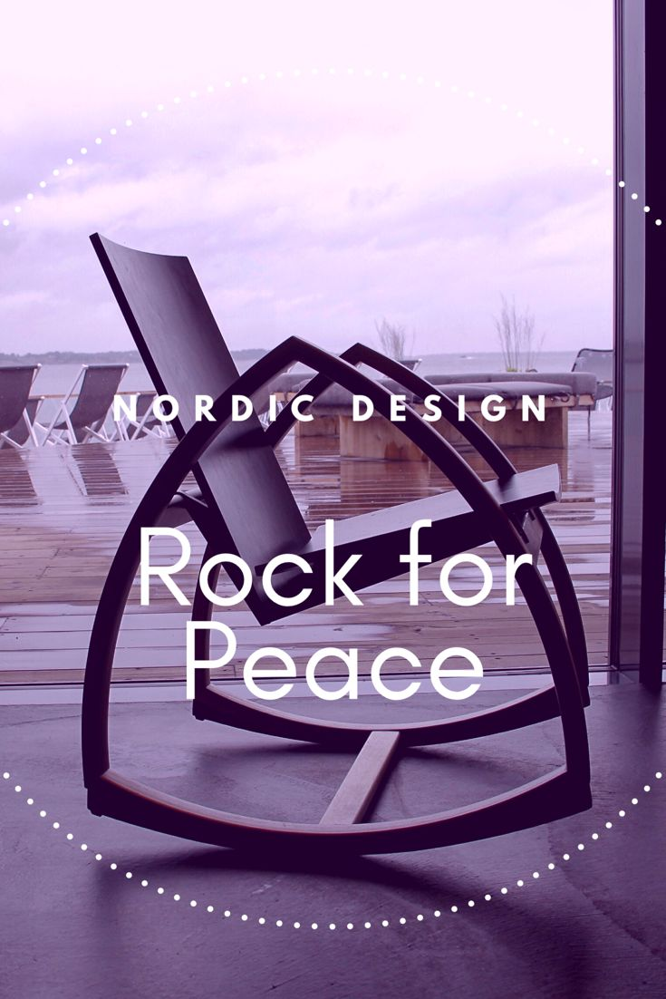 Nordic. Genuine. Modern. Calming. Comfortable. Redefining. All these things and so much more. THE ONE Rock For Peace rocking chair.