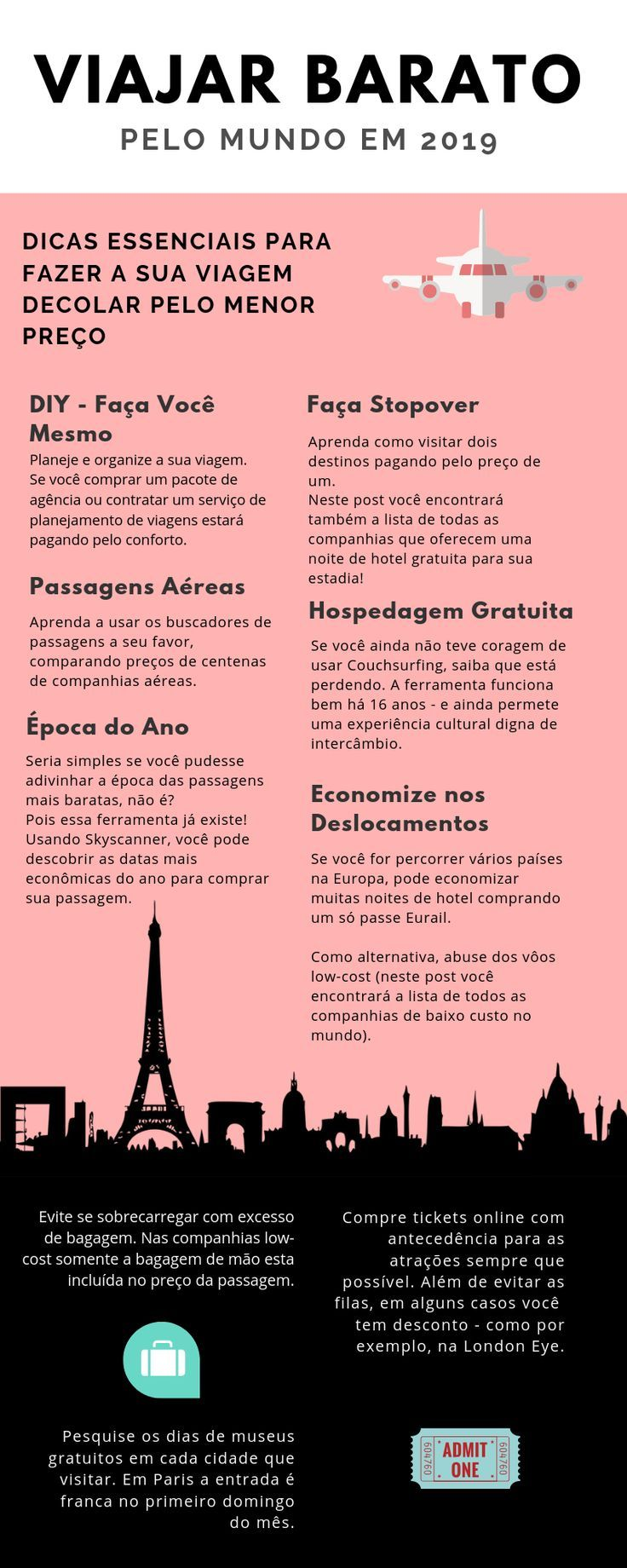 Como viajar barato pelo mundo em 2019   – * Nossas dicas de viagens * Português